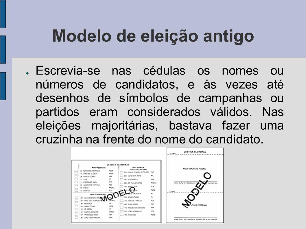 Modelo de eleição antigo