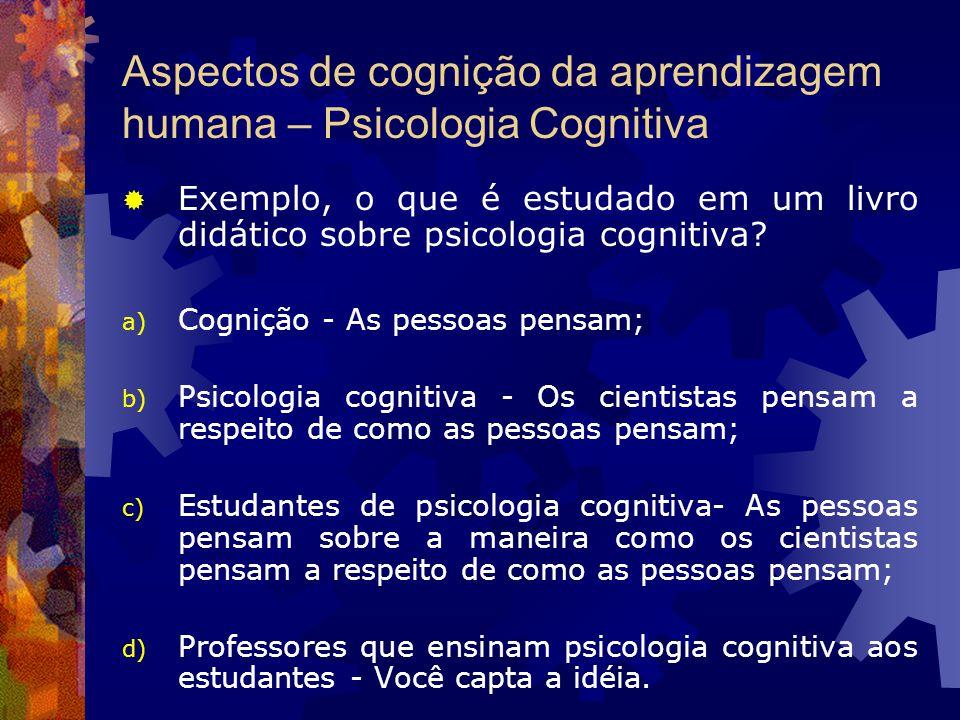 Aspectos de cognição da aprendizagem humana – Psicologia Cognitiva