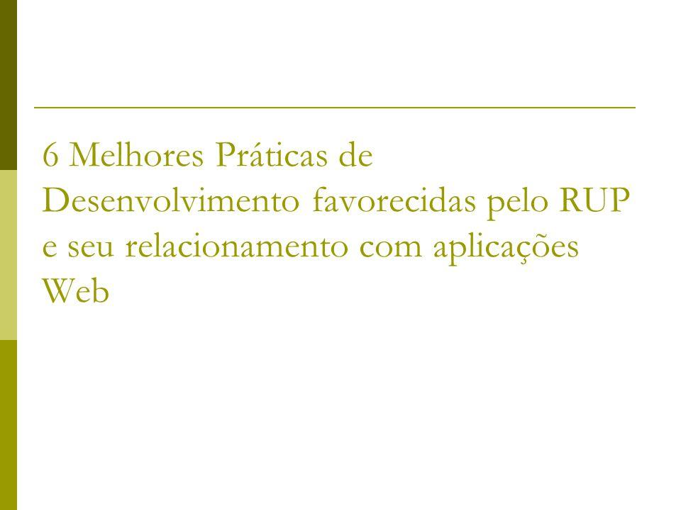 6 Melhores Práticas de Desenvolvimento favorecidas pelo RUP e seu relacionamento com aplicações Web