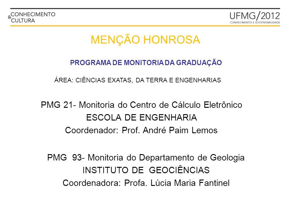 MENÇÃO HONROSA PMG 21- Monitoria do Centro de Cálculo Eletrônico