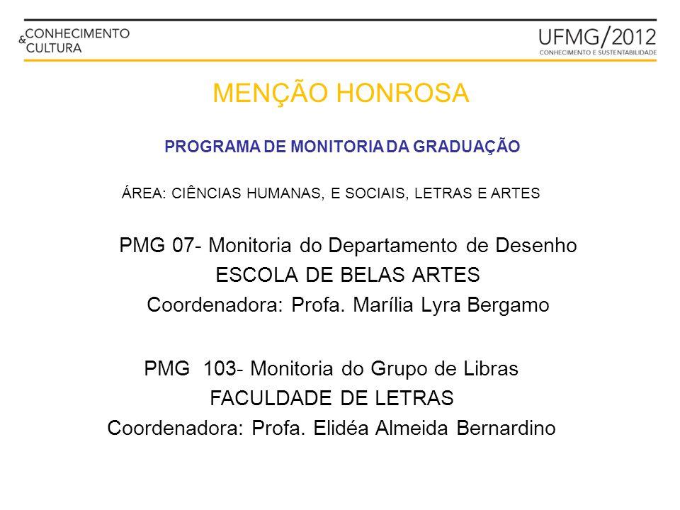 MENÇÃO HONROSA PMG 07- Monitoria do Departamento de Desenho