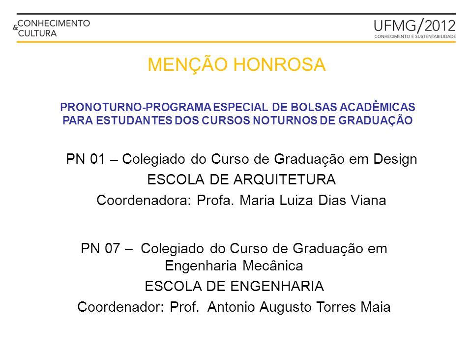 MENÇÃO HONROSA PN 01 – Colegiado do Curso de Graduação em Design
