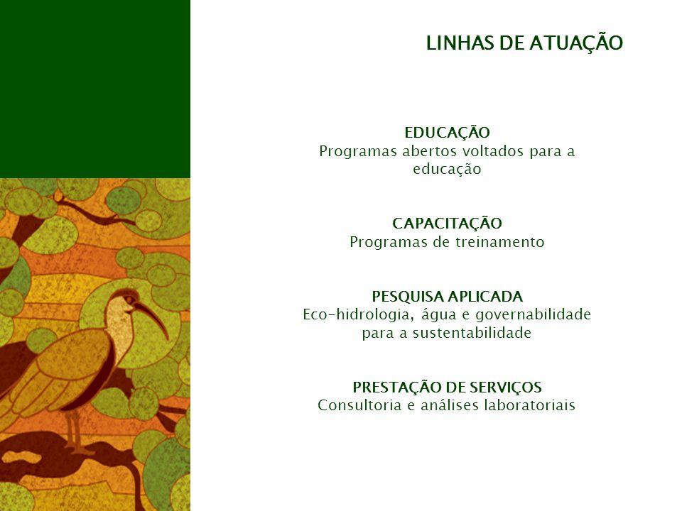LINHAS DE ATUAÇÃO EDUCAÇÃO Programas abertos voltados para a educação