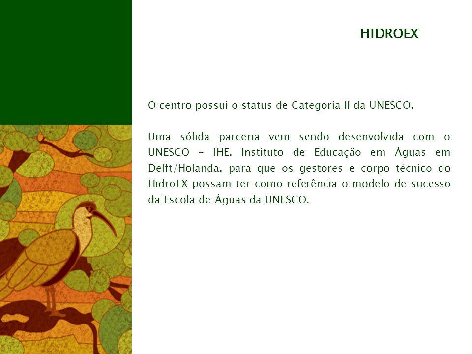 HIDROEX O centro possui o status de Categoria II da UNESCO.