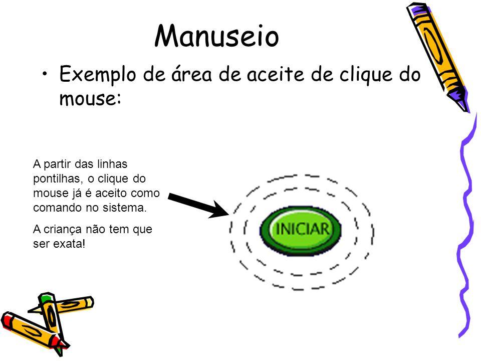 Manuseio Exemplo de área de aceite de clique do mouse: