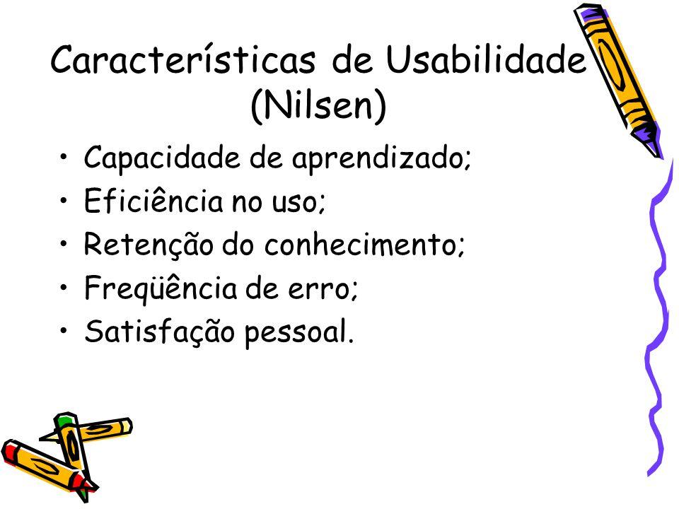 Características de Usabilidade (Nilsen)
