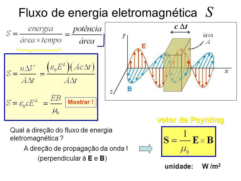 Fluxo de energia eletromagnética S