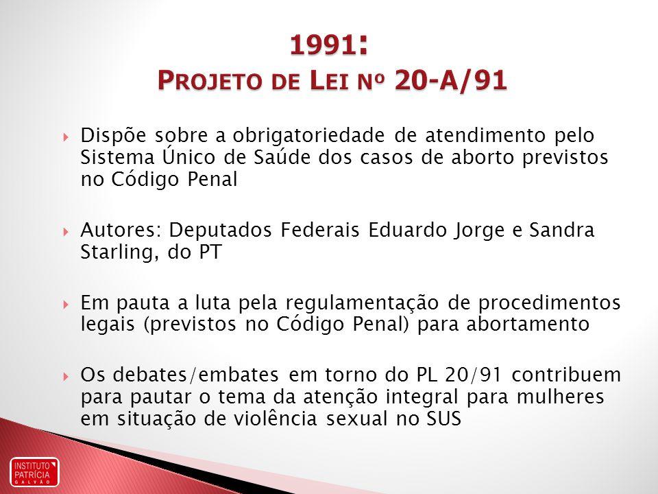 1991: Projeto de Lei nº 20-A/91