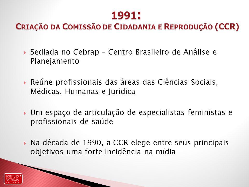 1991: Criação da Comissão de Cidadania e Reprodução (CCR)