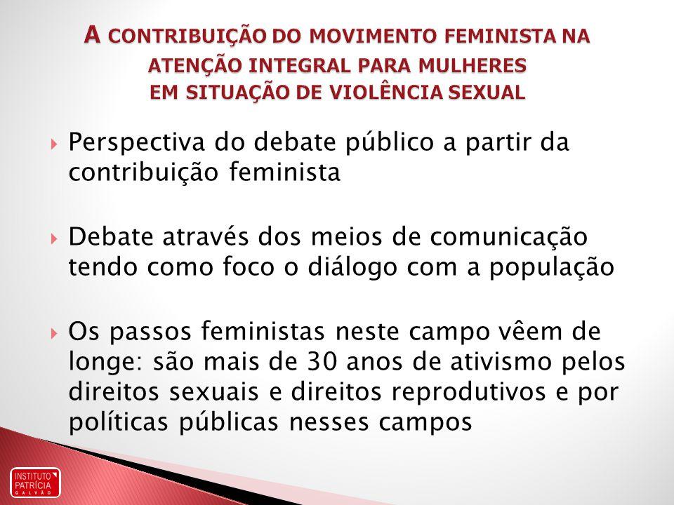 Perspectiva do debate público a partir da contribuição feminista
