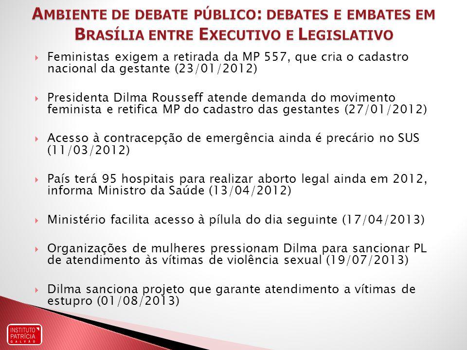 Ambiente de debate público: debates e embates em Brasília entre Executivo e Legislativo