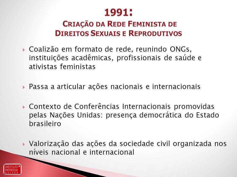 1991: Criação da Rede Feminista de Direitos Sexuais e Reprodutivos