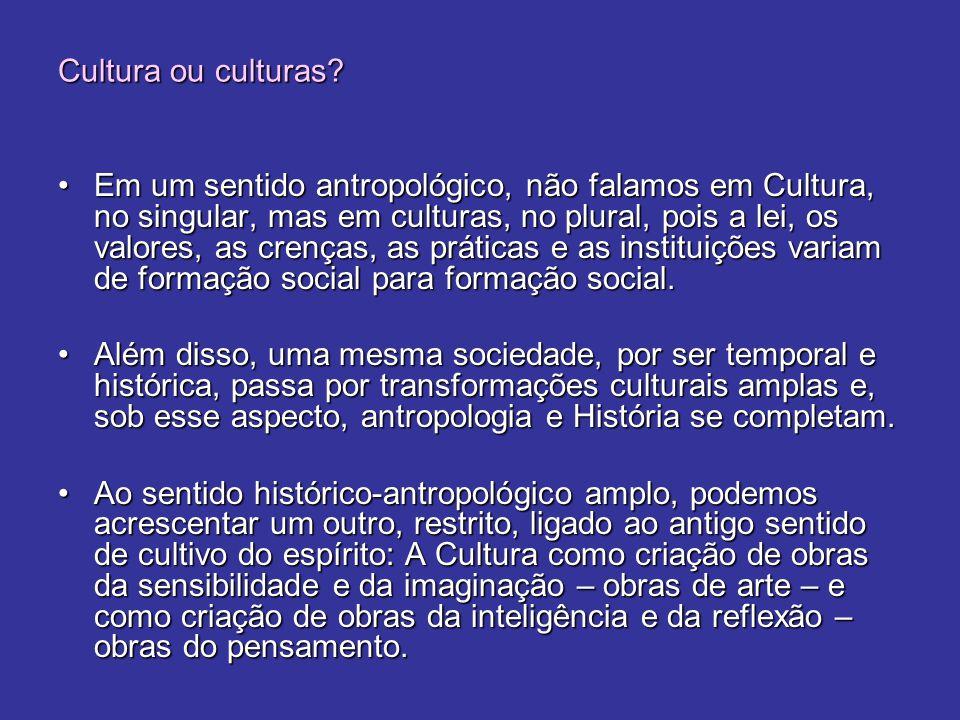 Cultura ou culturas