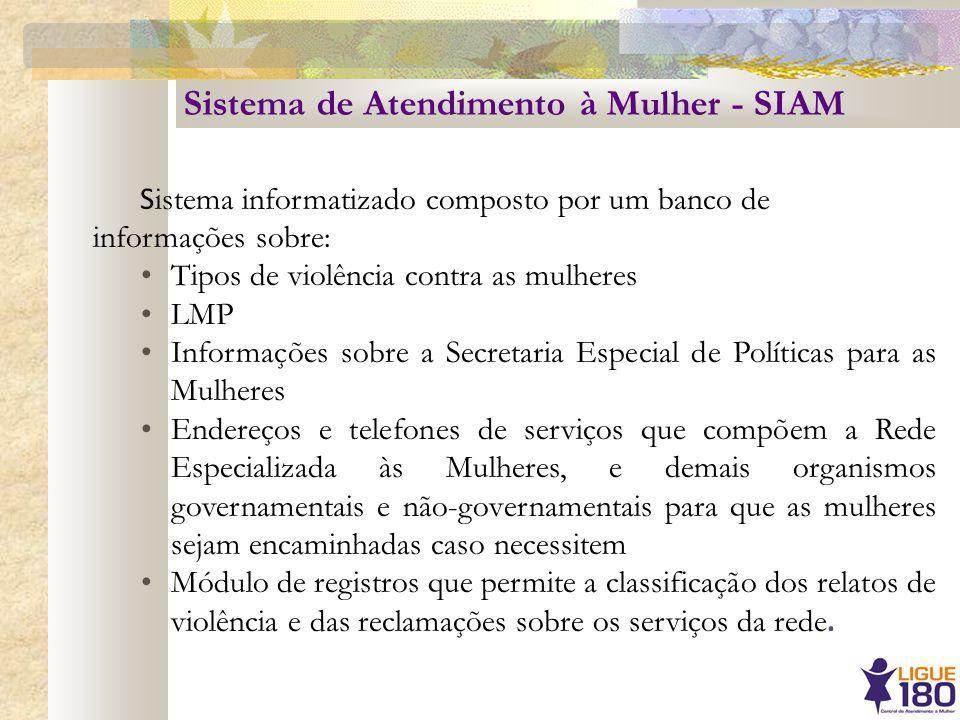 Sistema de Atendimento à Mulher - SIAM