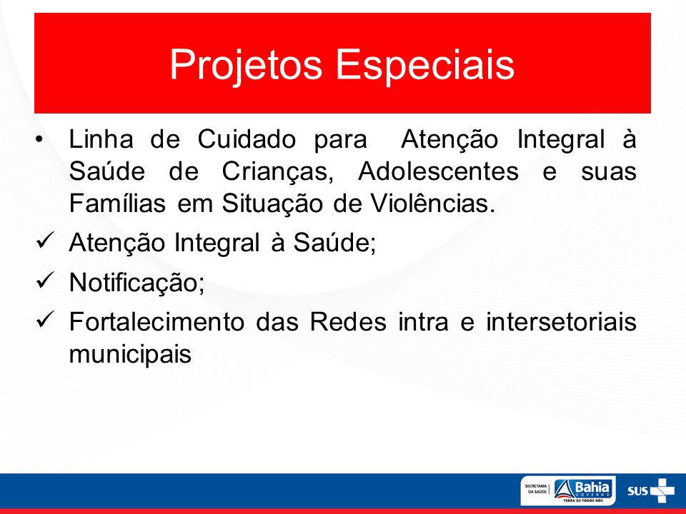 Projetos Especiais Linha de Cuidado para Atenção Integral à Saúde de Crianças, Adolescentes e suas Famílias em Situação de Violências.