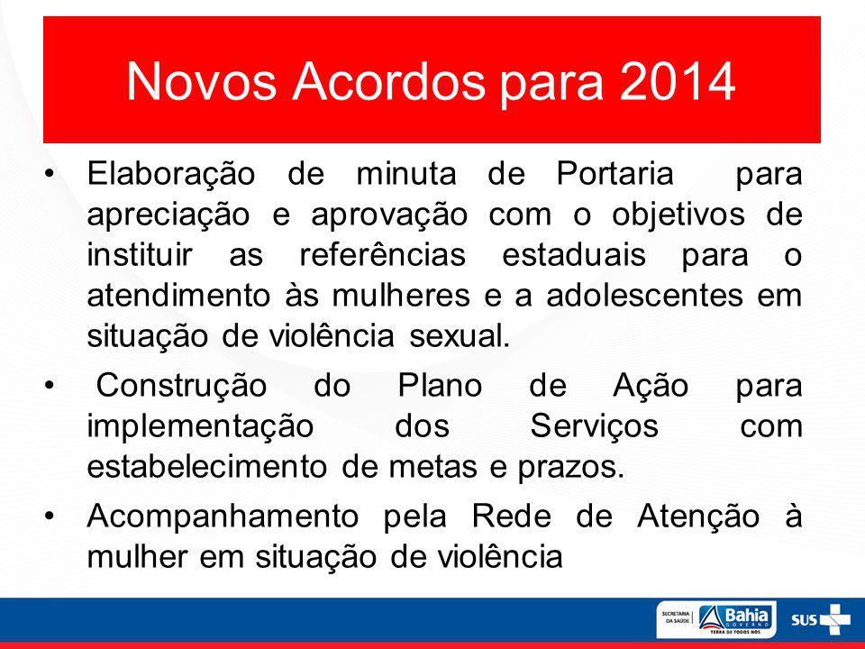 Novos Acordos para 2014