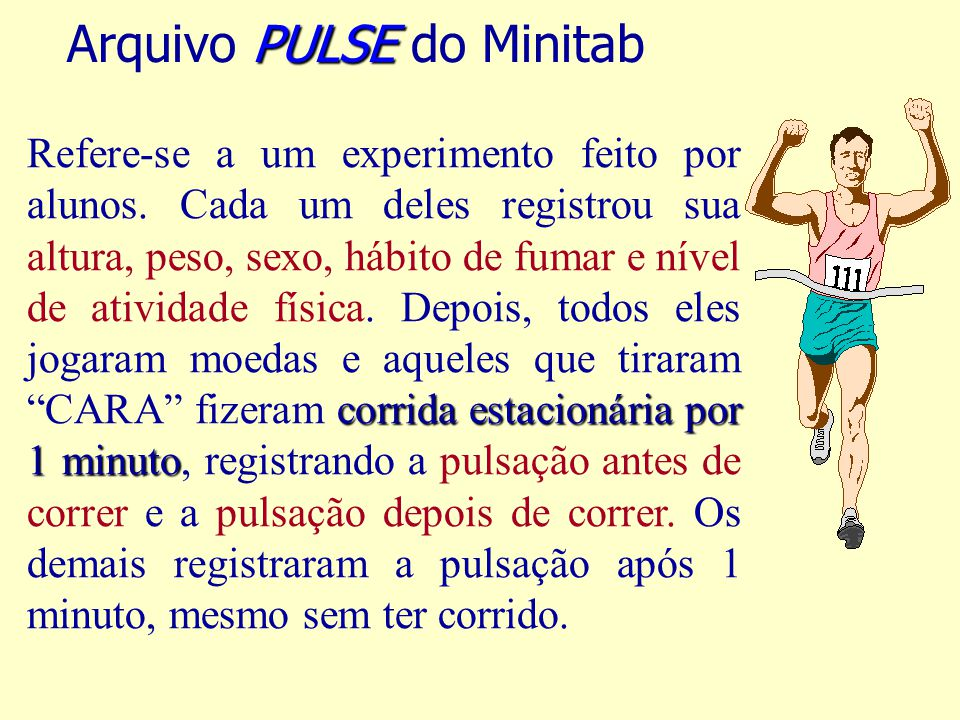 Arquivo PULSE do Minitab