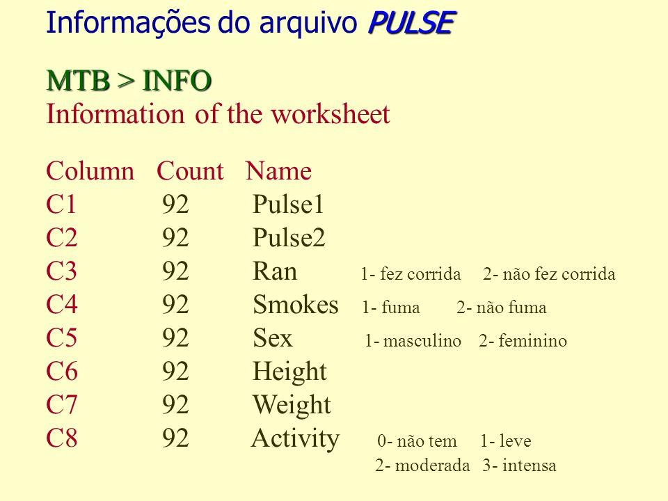 Informações do arquivo PULSE MTB > INFO
