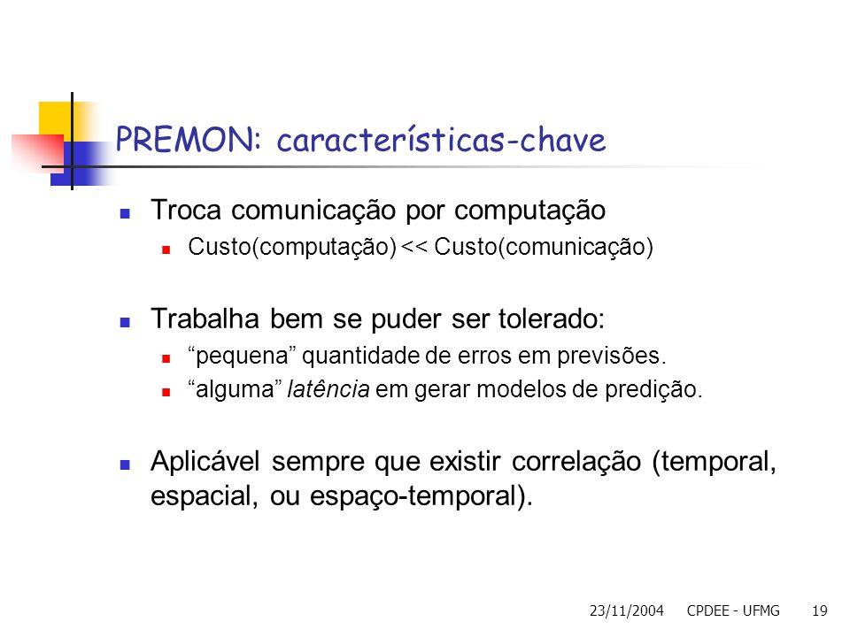 PREMON: características-chave