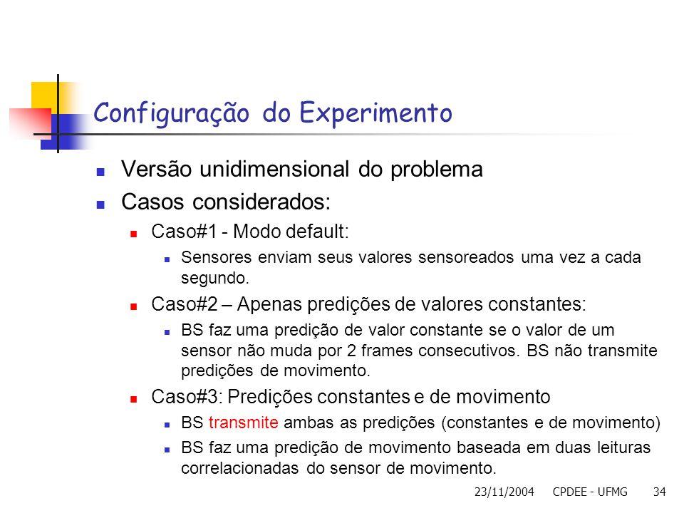 Configuração do Experimento
