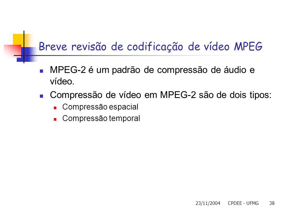 Breve revisão de codificação de vídeo MPEG