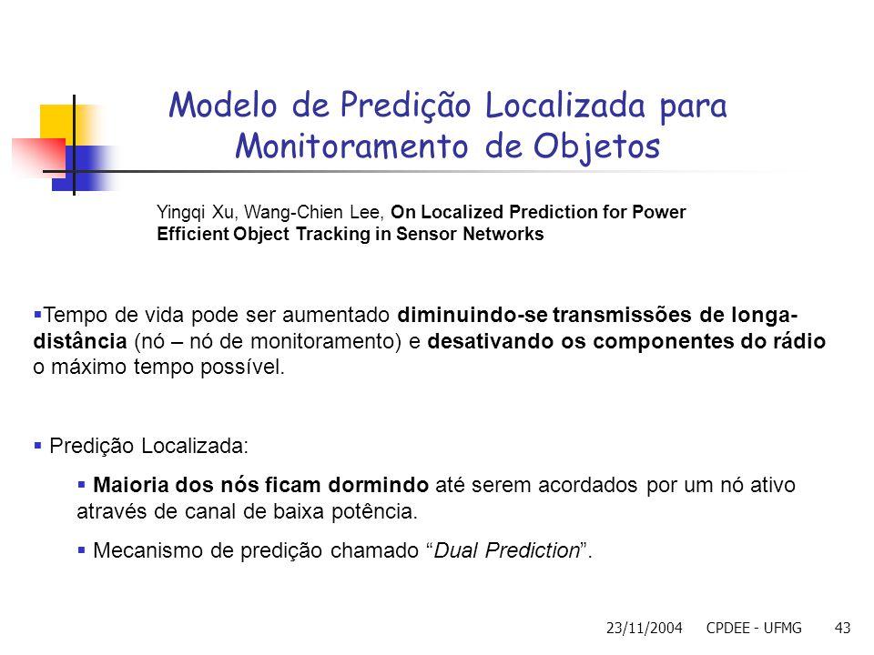 Modelo de Predição Localizada para Monitoramento de Objetos