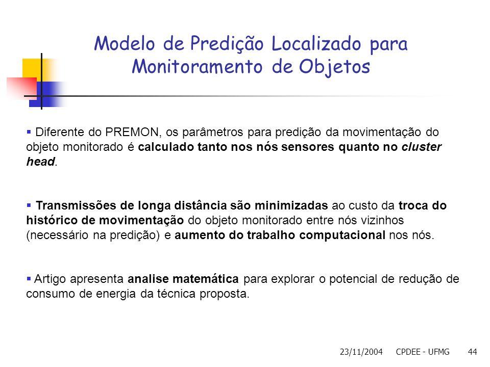 Modelo de Predição Localizado para Monitoramento de Objetos
