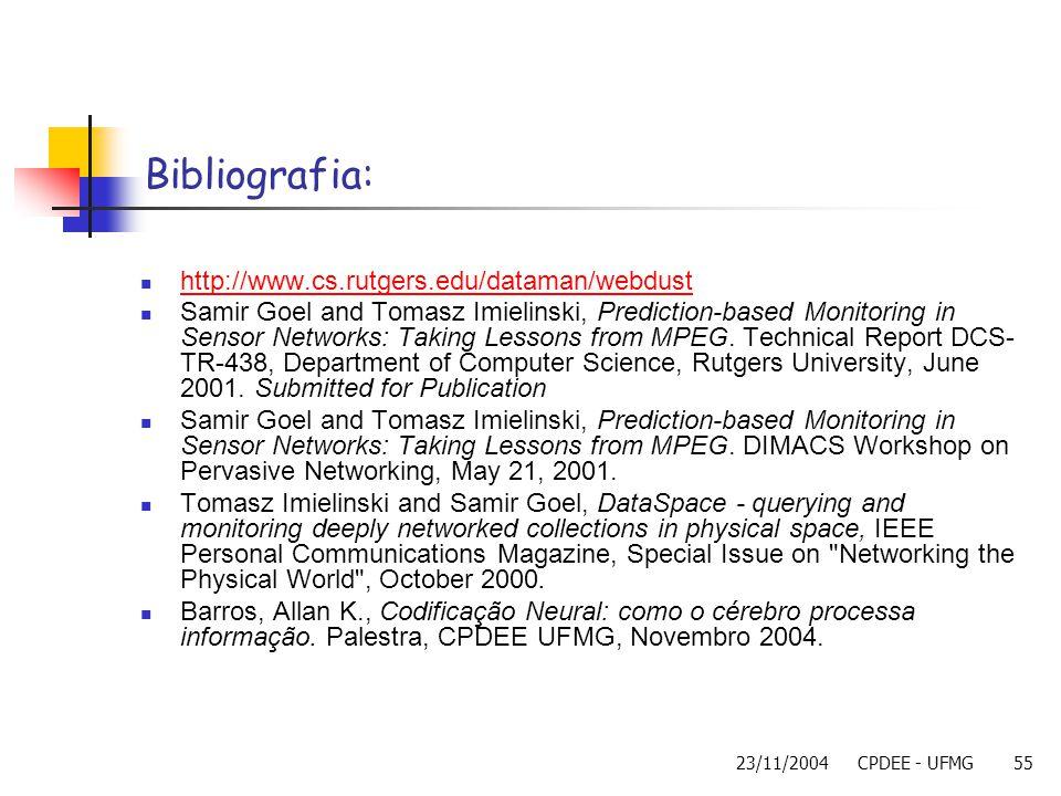 Bibliografia: http://www.cs.rutgers.edu/dataman/webdust