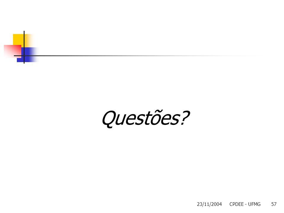 Questões 23/11/2004 CPDEE - UFMG