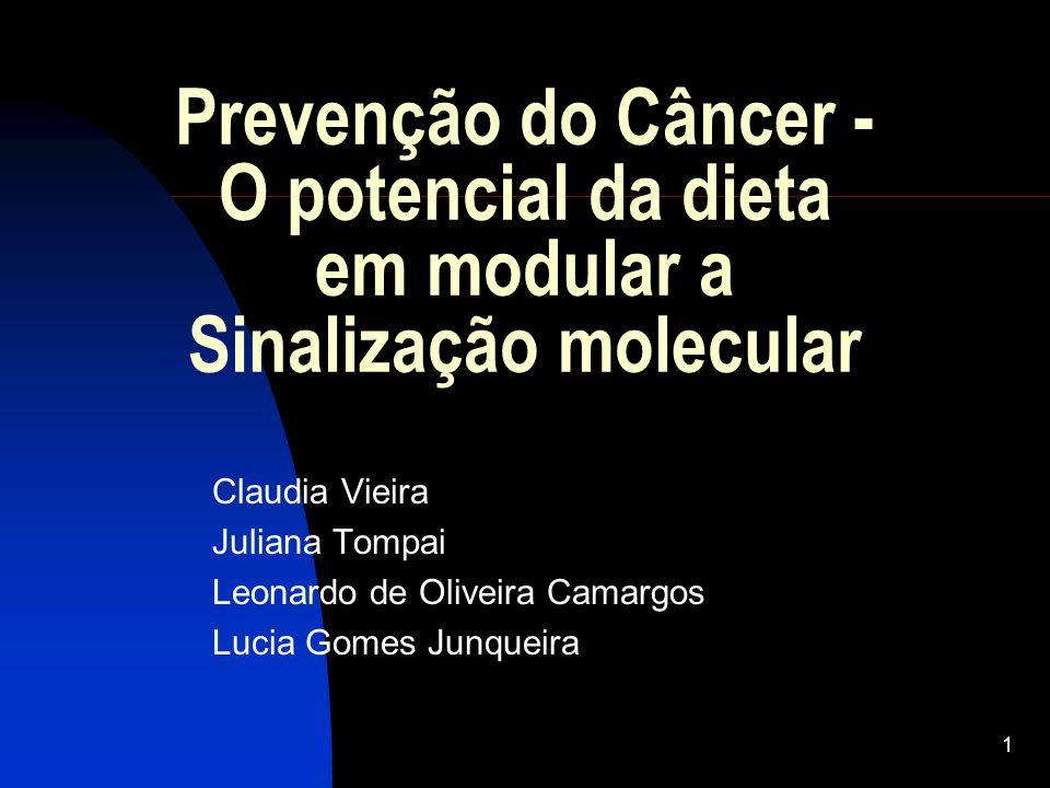 Prevenção do Câncer - O potencial da dieta em modular a Sinalização molecular