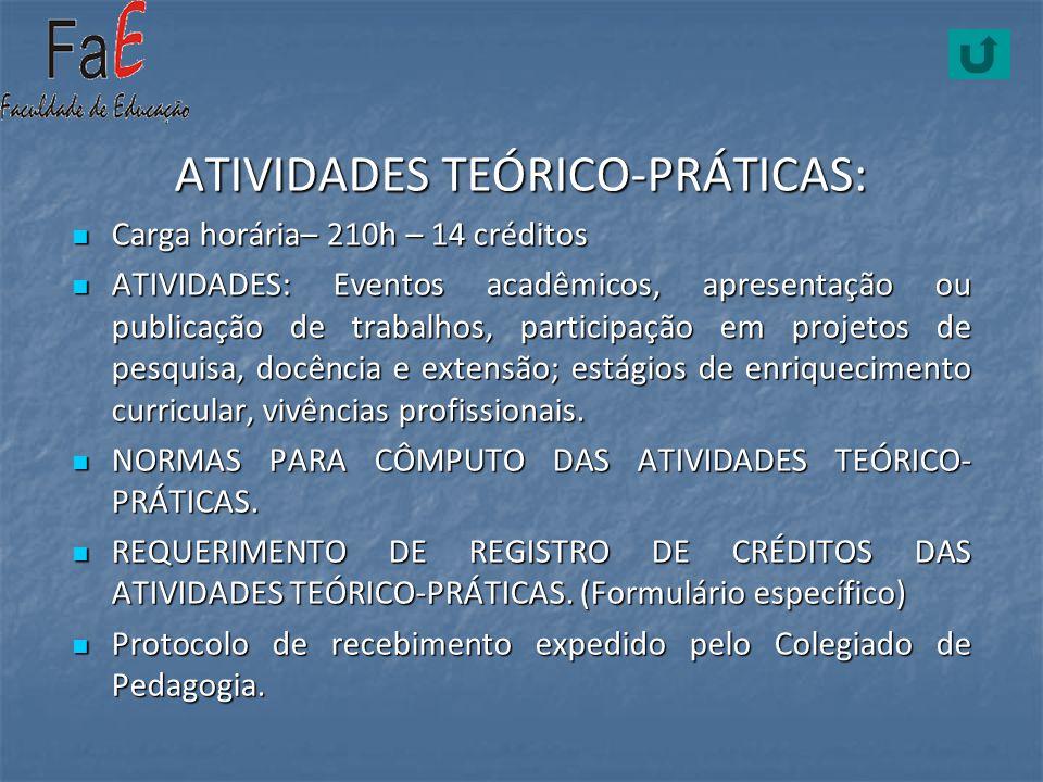 ATIVIDADES TEÓRICO-PRÁTICAS: