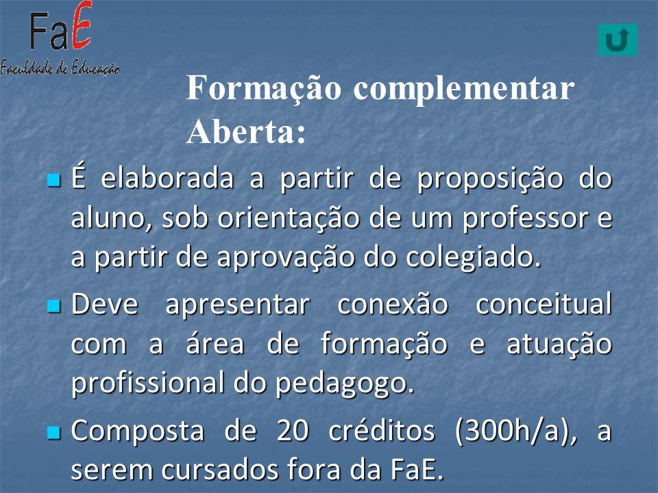 Formação complementar Aberta: