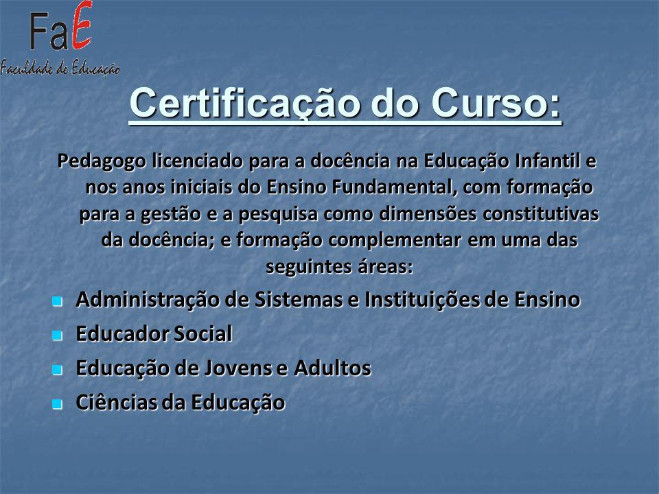 Certificação do Curso: