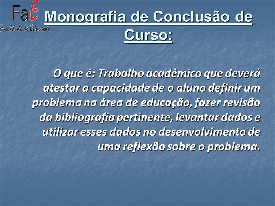 Monografia de Conclusão de Curso: