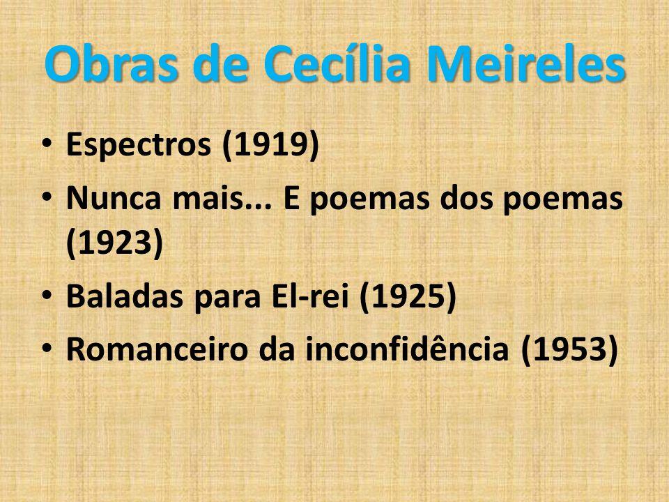 Obras de Cecília Meireles