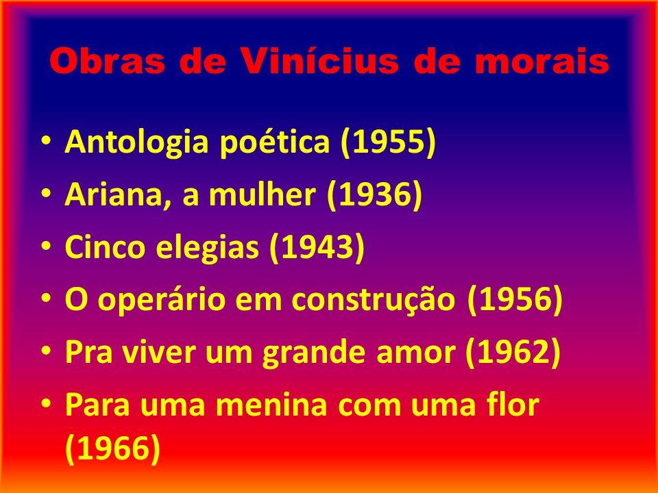 Obras de Vinícius de morais