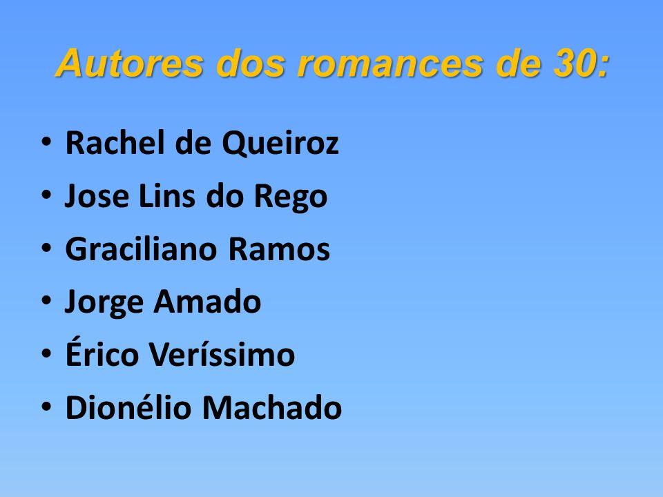 Autores dos romances de 30: