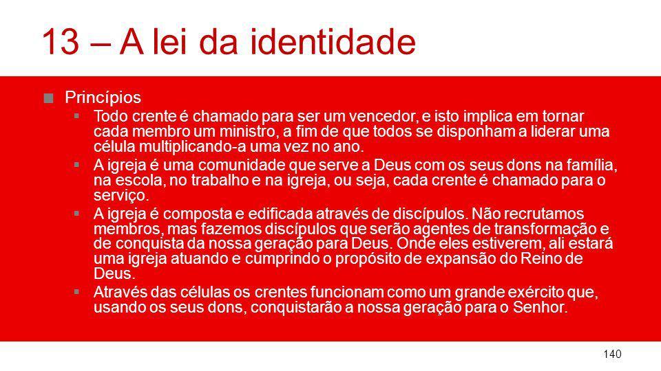 13 – A lei da identidade Princípios