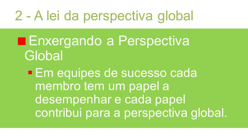 2 - A lei da perspectiva global