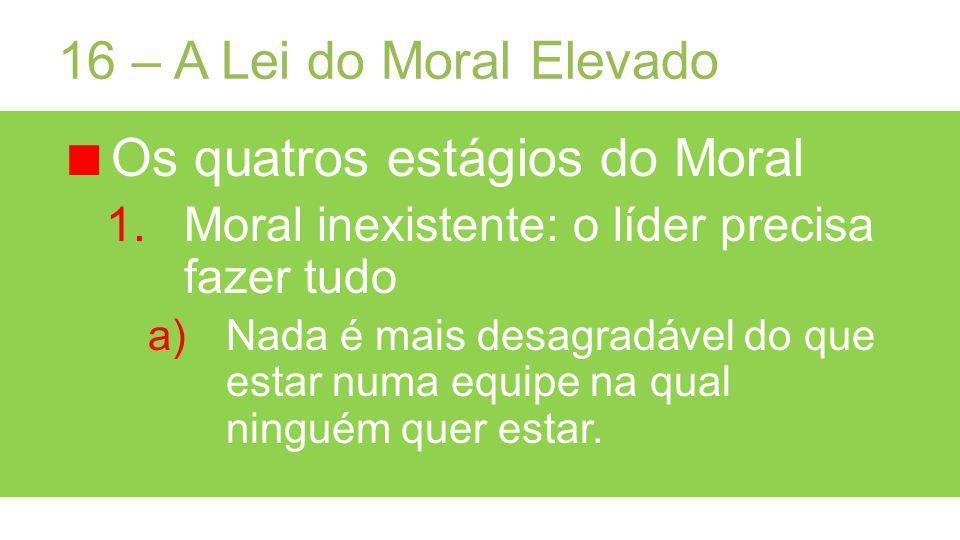 Os quatros estágios do Moral
