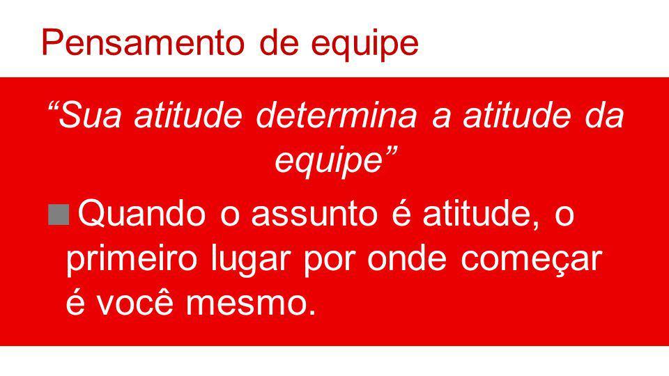 Sua atitude determina a atitude da equipe