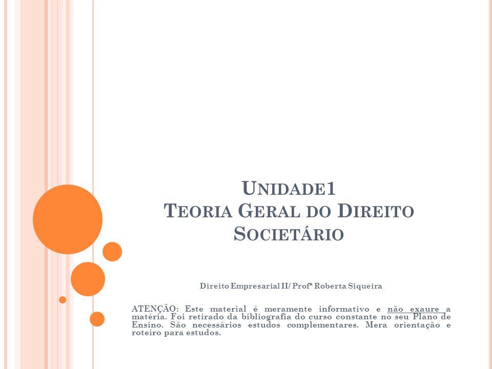 Unidade1 Teoria Geral do Direito Societário
