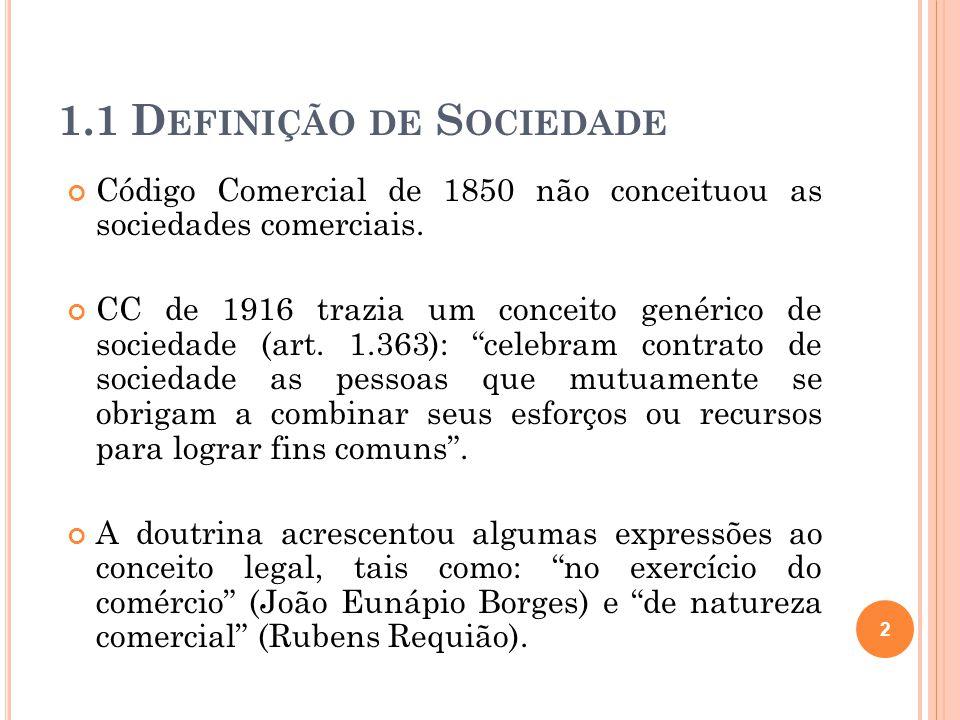 1.1 Definição de Sociedade