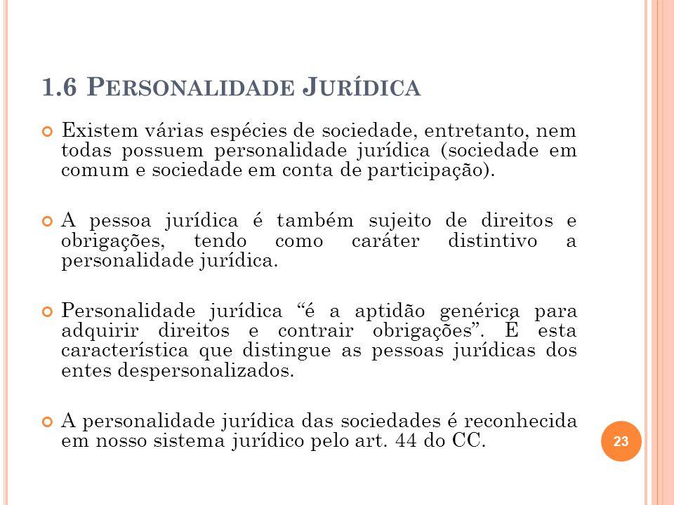 1.6 Personalidade Jurídica