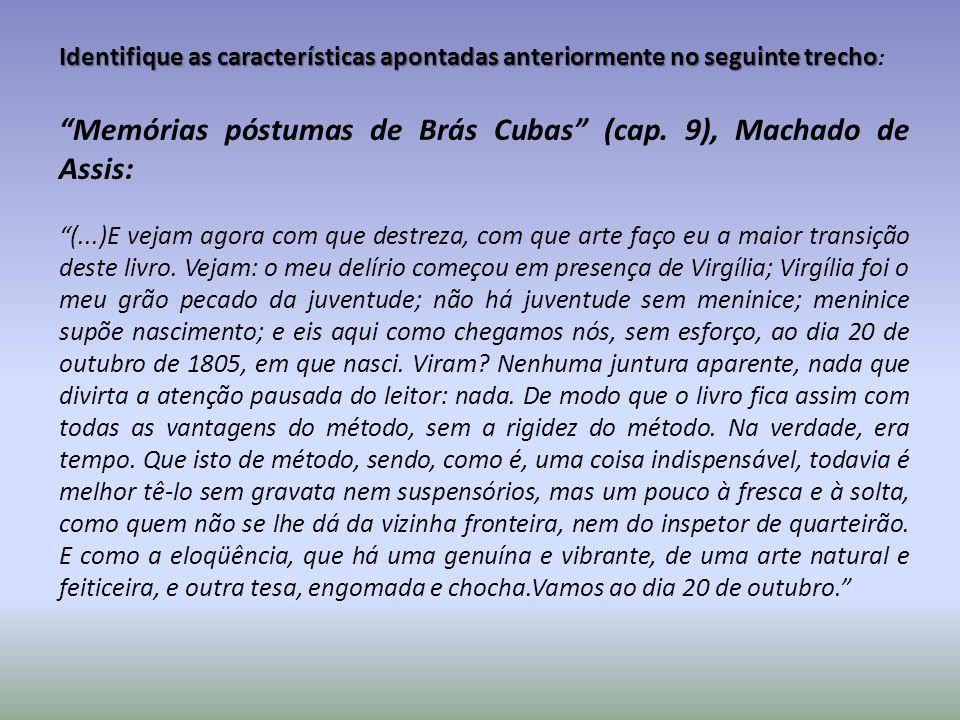 Memórias póstumas de Brás Cubas (cap. 9), Machado de Assis:
