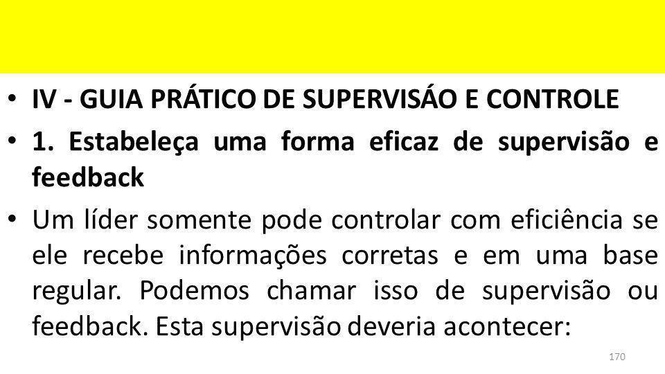 IV - GUIA PRÁTICO DE SUPERVISÁO E CONTROLE