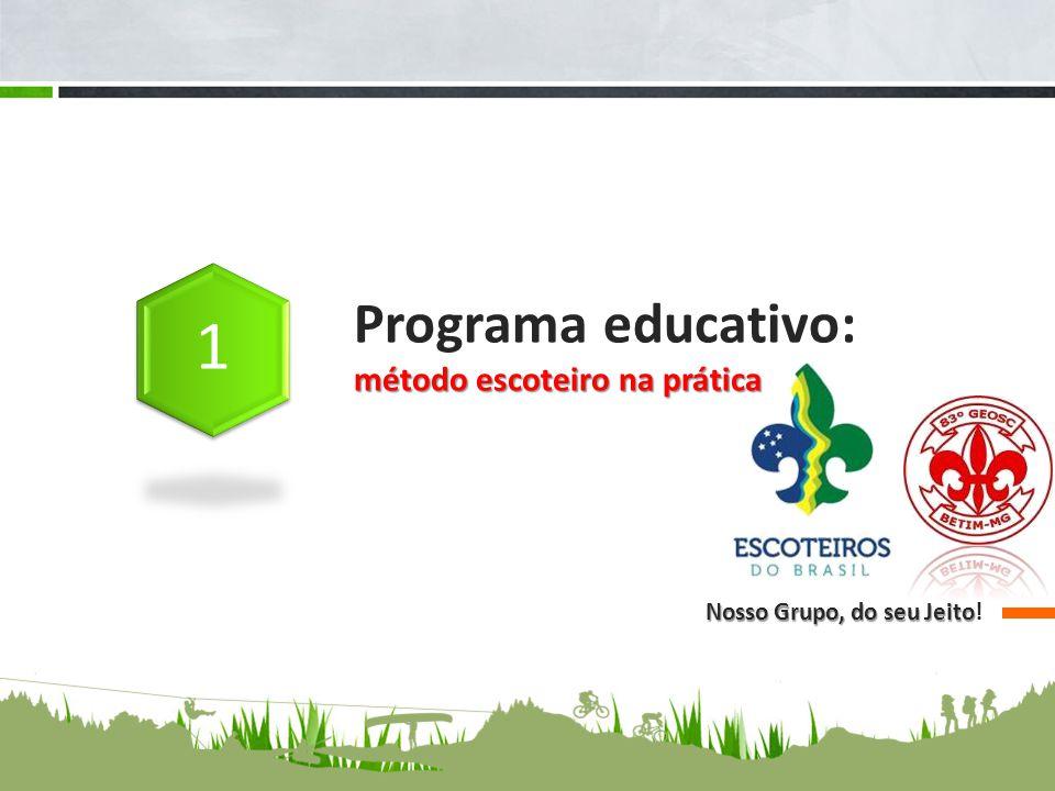 Programa educativo: método escoteiro na prática