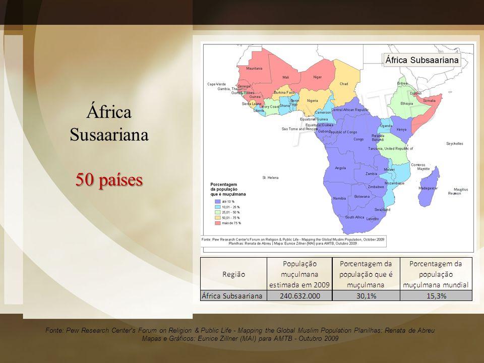 África Susaariana 50 países