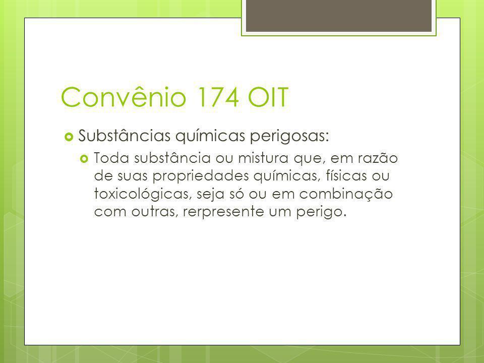 Convênio 174 OIT Substâncias químicas perigosas:
