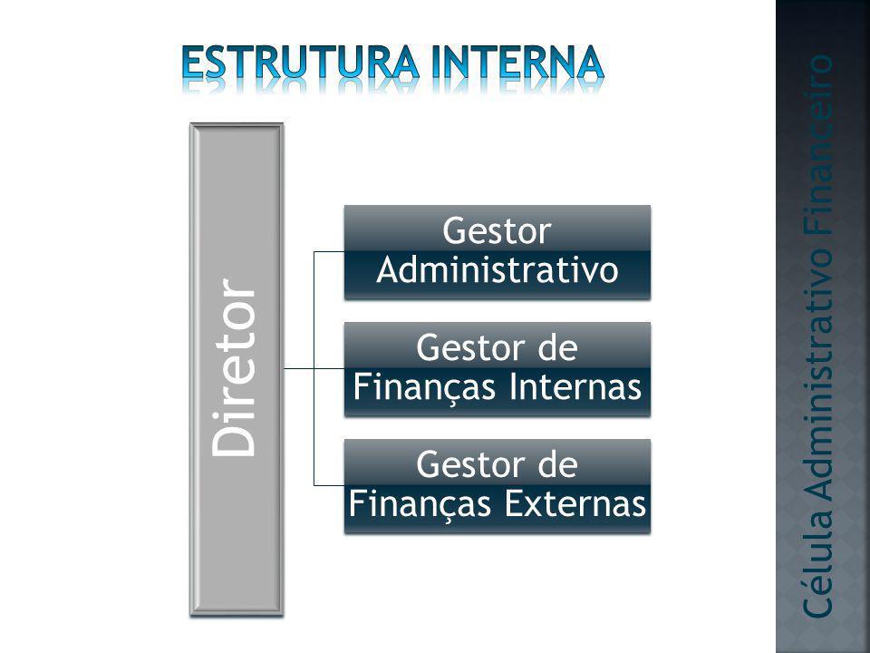 Diretor Estrutura interna Célula Administrativo Financeiro